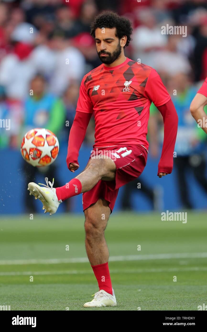 MOHAMED SALAH, LIVERPOOL FC, 2019 Banque D'Images