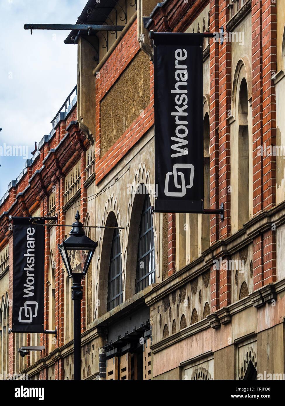 Logiciel de partage la compagnie Siège social à la mode Street dans l'East End londonien Photo Stock