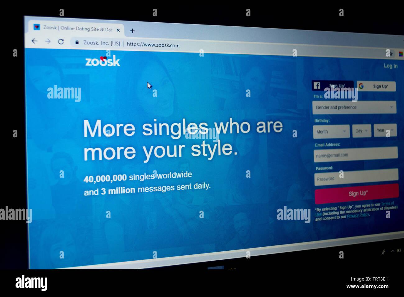 Site de rencontres Zoosk Royaume-Uni