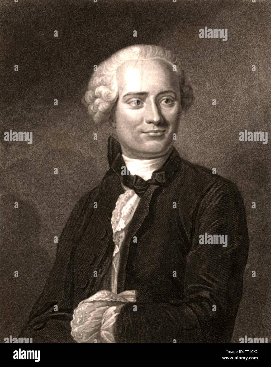 JEAN le rond d'Alembert (1717-1783) mathématicien et physicien français Photo Stock