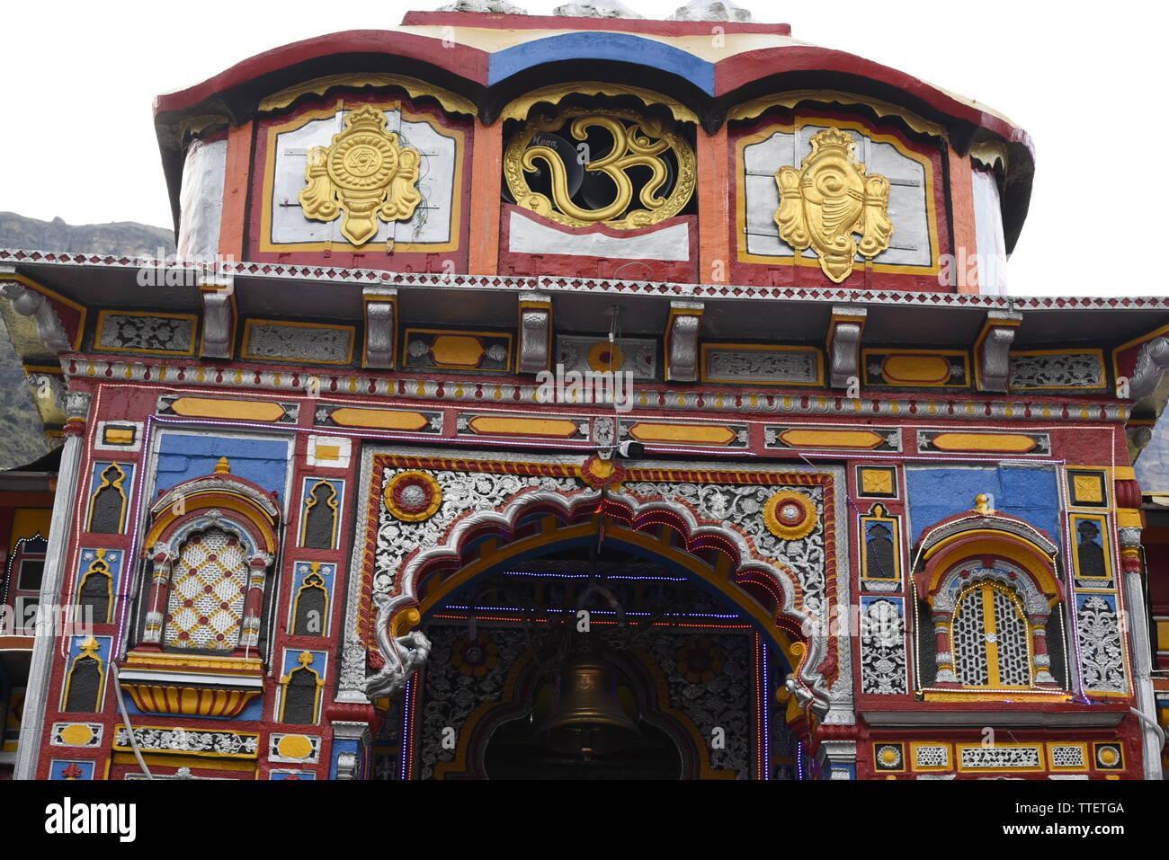 Lieu Saint Seigneur Vishnu Temple Badrinath Badrinath, 2019 Ville, District Chamoli, Uttrakhand, Inde, Asie Banque D'Images