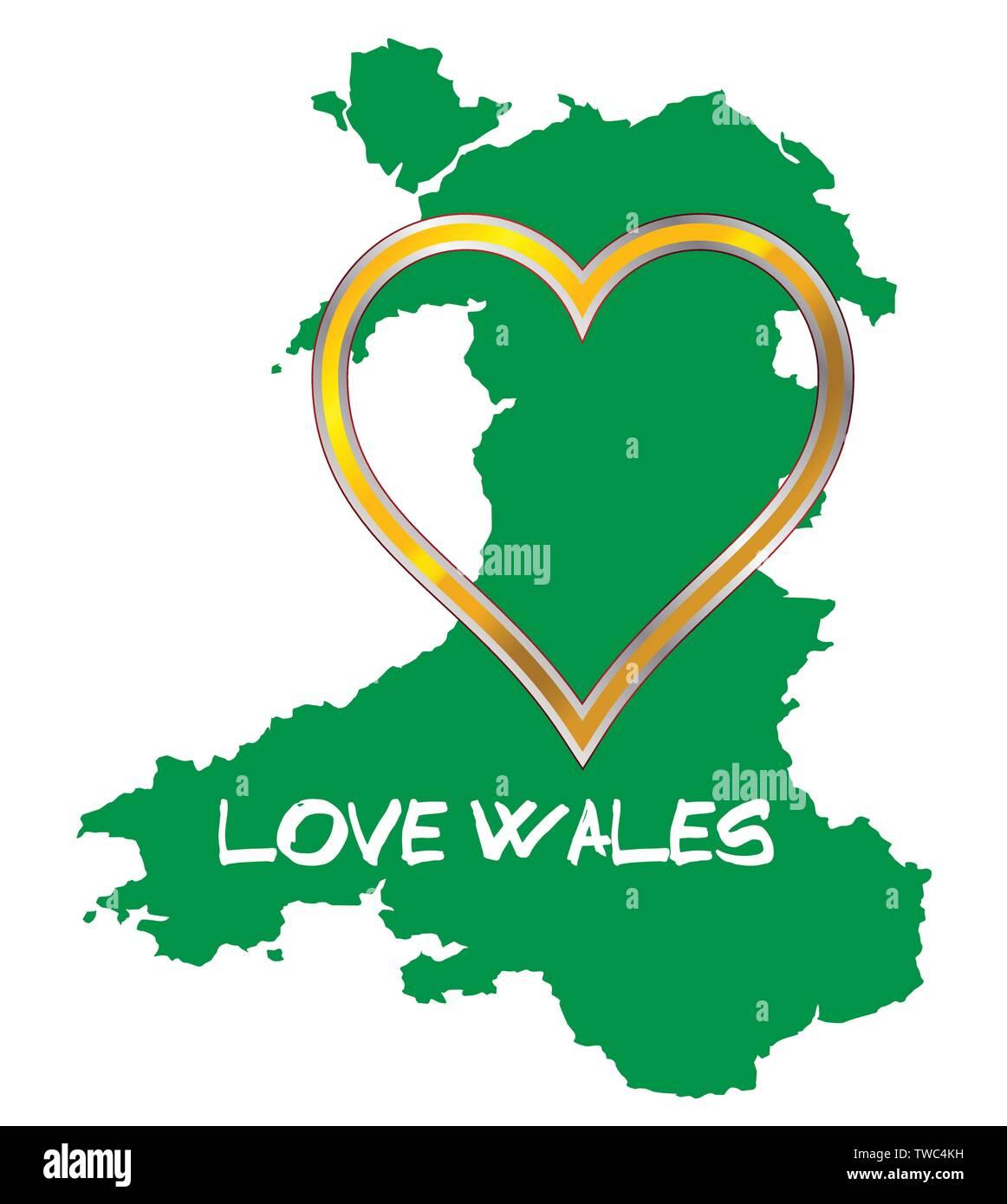 I love coeur Gwynedd T-shirt