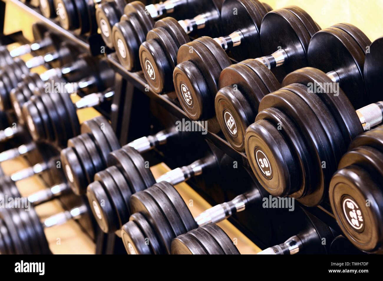 Tourné d'un équipement de formation de poids Photo Stock