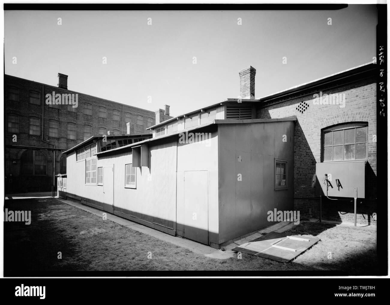 Shanty attaché à l'Édifice no 2 - Thomas A. Edison Laboratories, Rue Principale et Lakeside Avenue, West Orange, comté d'Essex, NJ Banque D'Images