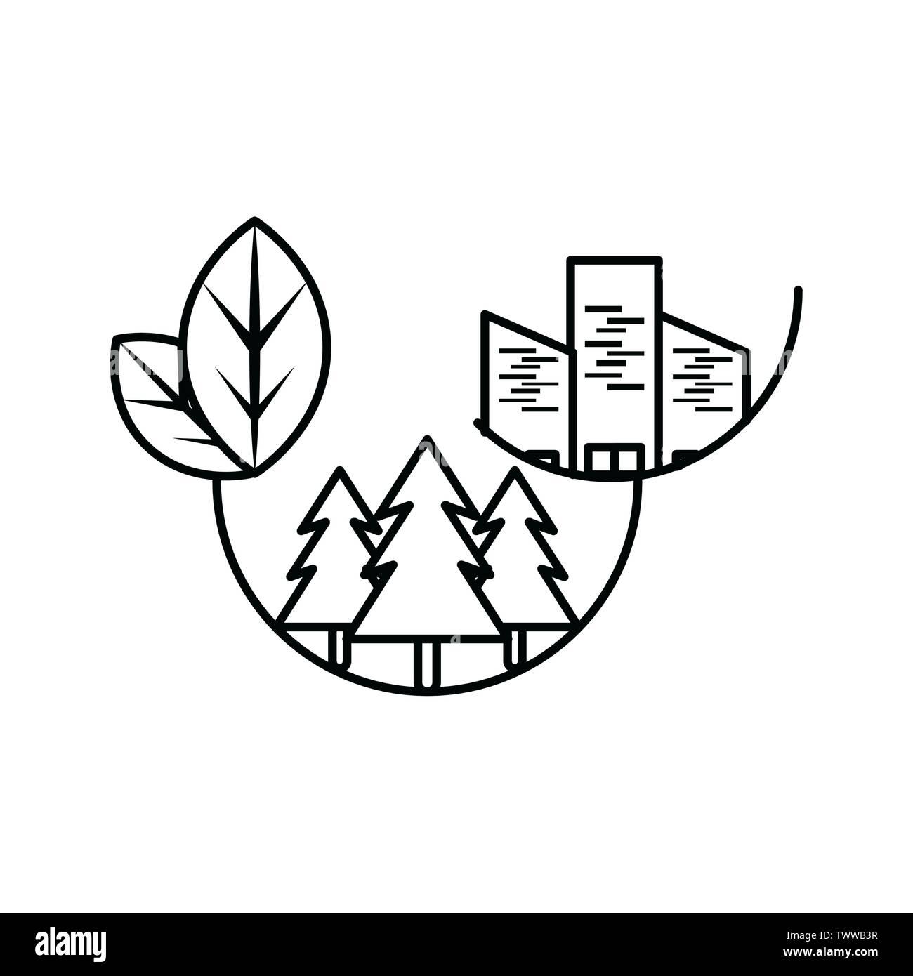 Pins conception, durabilité écologique et renouvelable écologie recyclage vert thème solution Vector illustration Photo Stock