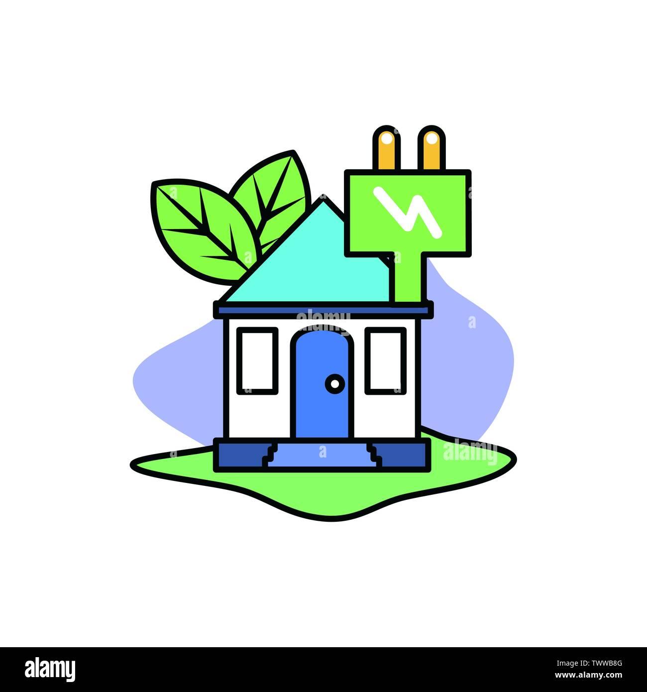 La conception du bouchon, la durabilité écologique et renouvelable écologie recyclage vert thème solution Vector illustration Photo Stock