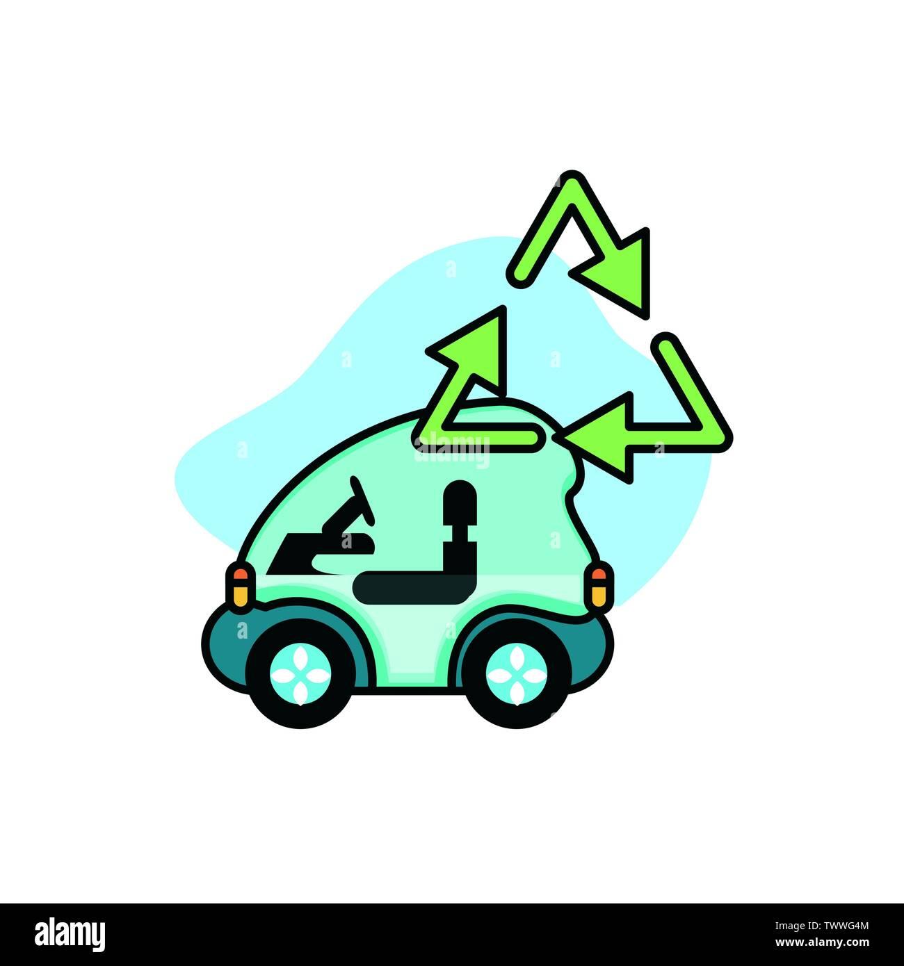Car Design, Eco city sauver la planète penser vert et de recyclage thème Vector illustration Photo Stock