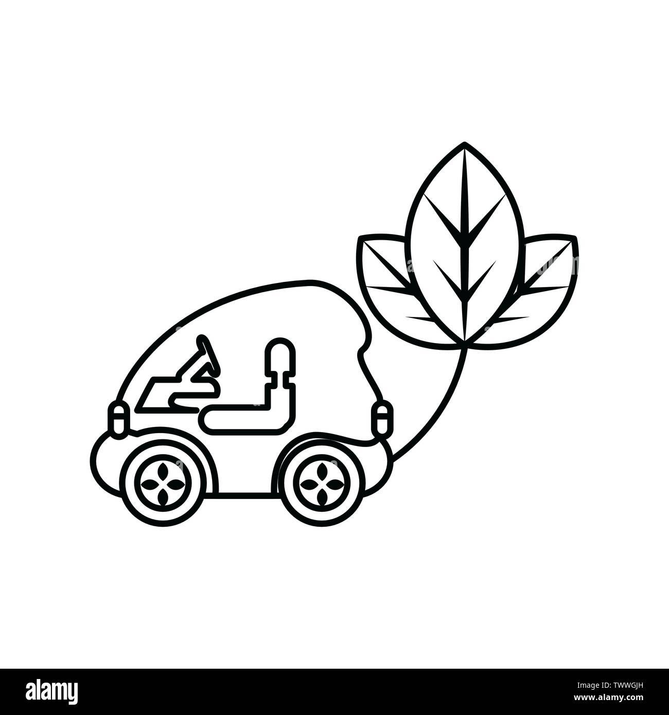 Les feuilles et en voiture, l'éco conception ville sauver la planète penser vert et de recyclage thème Vector illustration Photo Stock