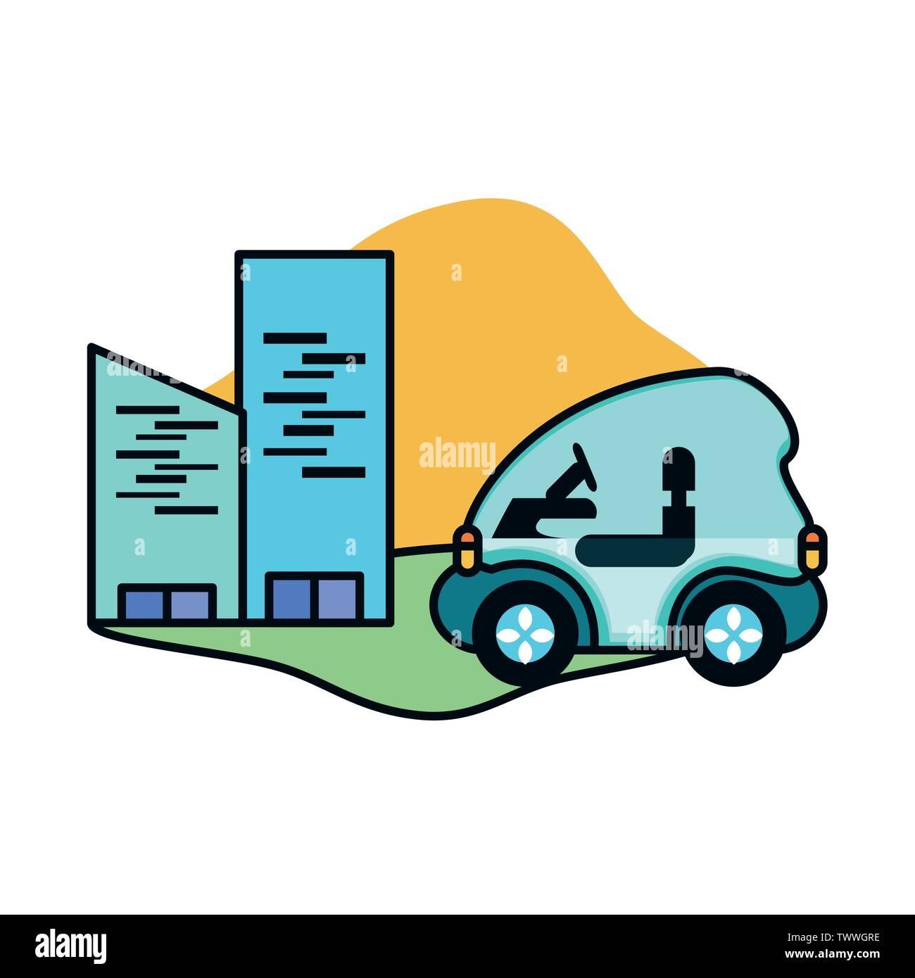 Location et design urbain, Eco city sauver la planète penser vert et de recyclage thème Vector illustration Photo Stock
