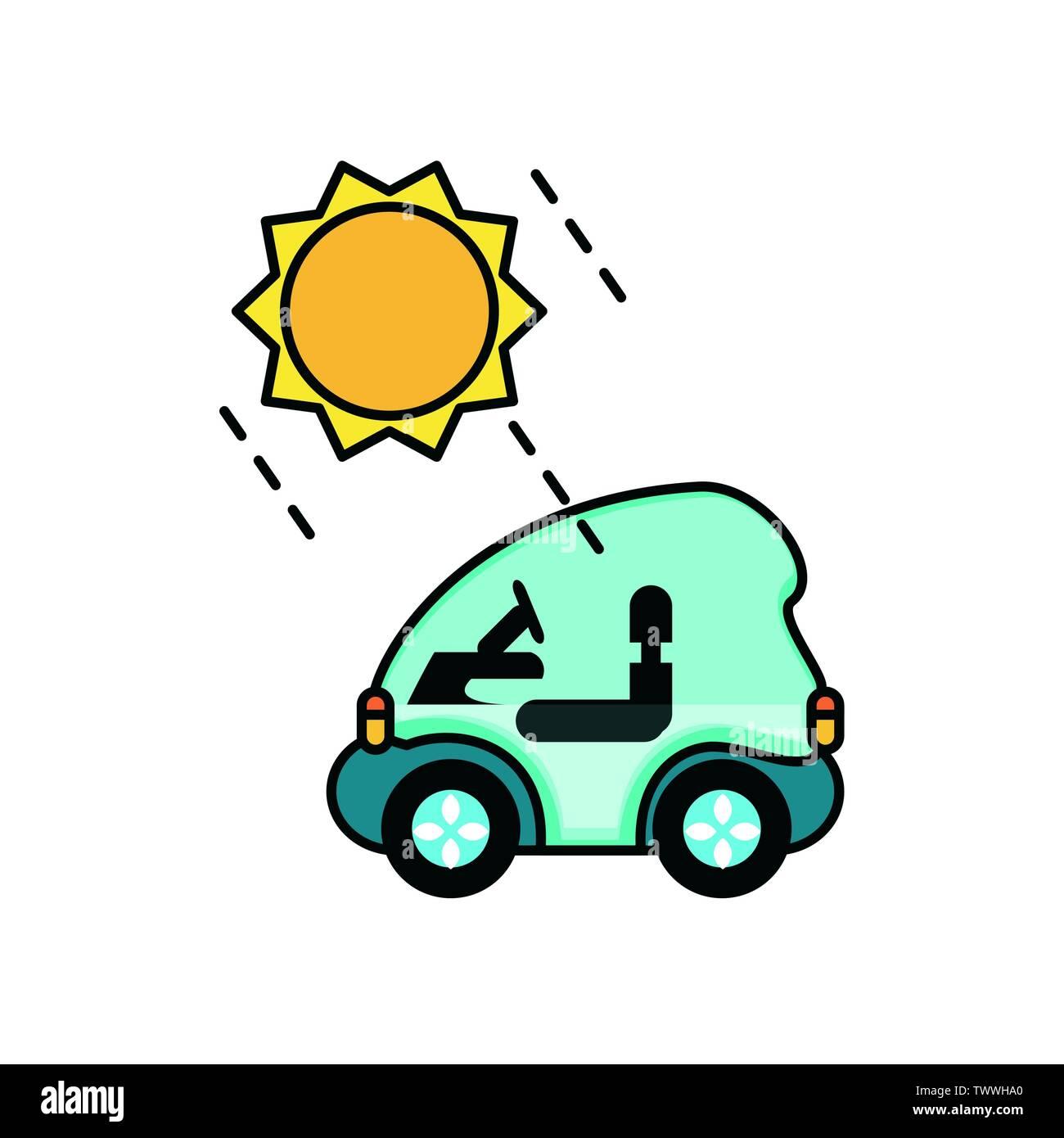 Location et sun Design, Eco city sauver la planète penser vert et de recyclage thème Vector illustration Photo Stock