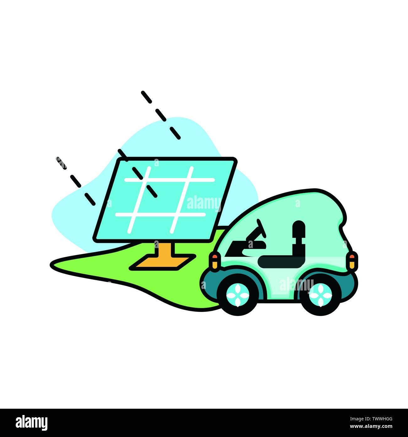 Location et panneau solaire Design, Eco city sauver la planète penser vert et de recyclage thème Vector illustration Photo Stock