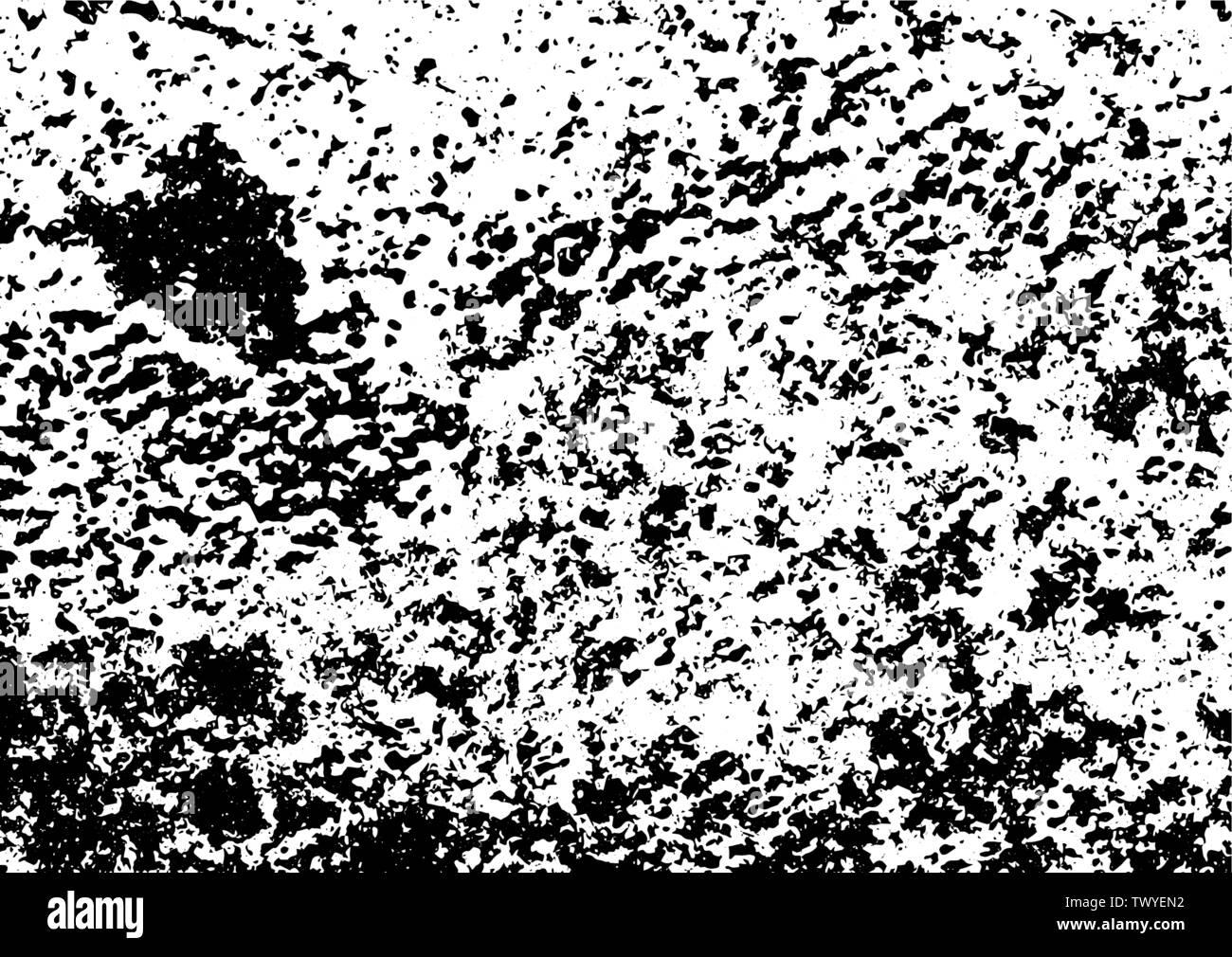 Grunge noir et blanc. Superposition de détresse de texture. Résumé La poussière de surface rugueuse et mur sale concept d'arrière-plan. Illustration de détresse placez simplement vo Photo Stock