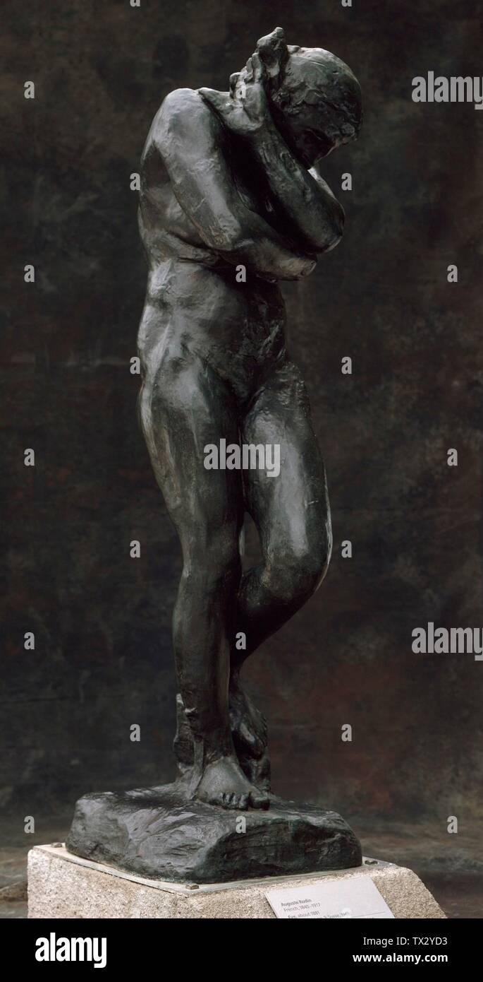 Eve; France, d'abord modélisée vers 1881, cette coulée 1968 (Musée Rodin 9/12) Sculpture Bronze 68 x 19 x 25 in. (172,72 x 48,26 x 63,5 cm); poids 438 lbs Don de B. Gerald Cantor Art Foundation (M.73.108.2) Sculpture européenne Actuellement sur la vue publique:; Ce casting 1968 (Musee Rodin 9/12); Banque D'Images