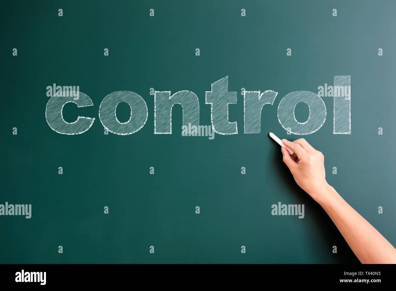 Tableau de contrôle écrit sur Photo Stock