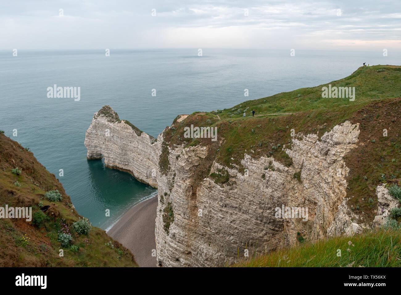 Les falaises d'Étretat, Normandie, France Photo Stock