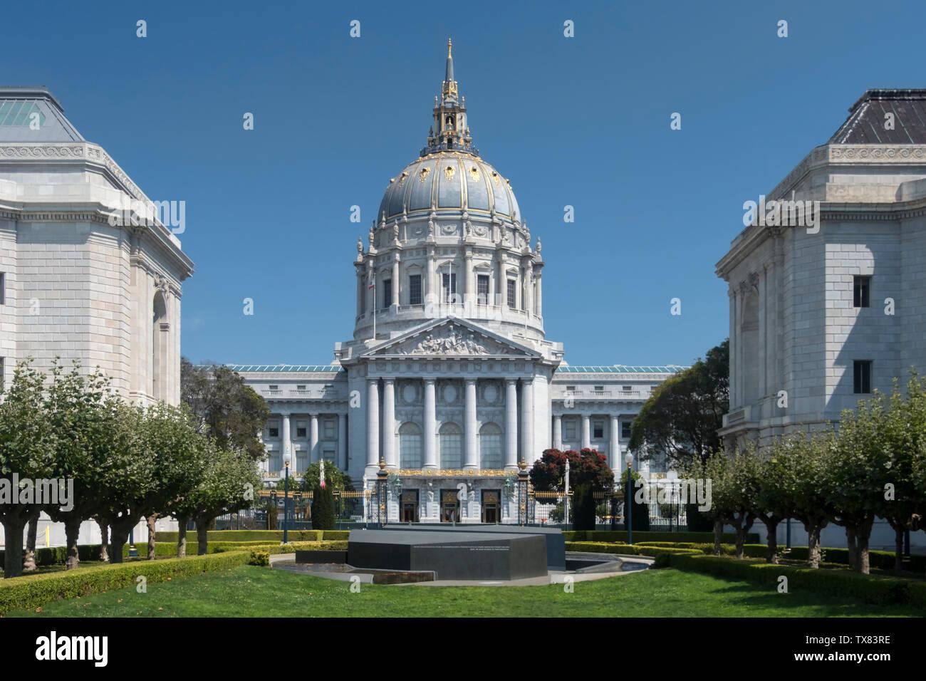 L'Hôtel de ville de San Francisco, San Francisco, California, USA Banque D'Images