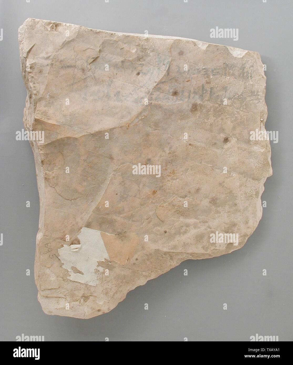 'Ostracon avec un reçu pour la location d'un âne (image 1 de 2); l'Égypte, Nouvel Empire, 20thDynasty, daté de 26 ans, pendant le règne de Ramsès III (1198-1166), 1171 de BCE BCE Outils et équipements; calcaire ostraka 8 11/16 x 7 3/16 in. (22 x 18,3 cm Don de Carl W. Thomas (M.80.203.205) L'art égyptien; 1171; BCE ' Photo Stock