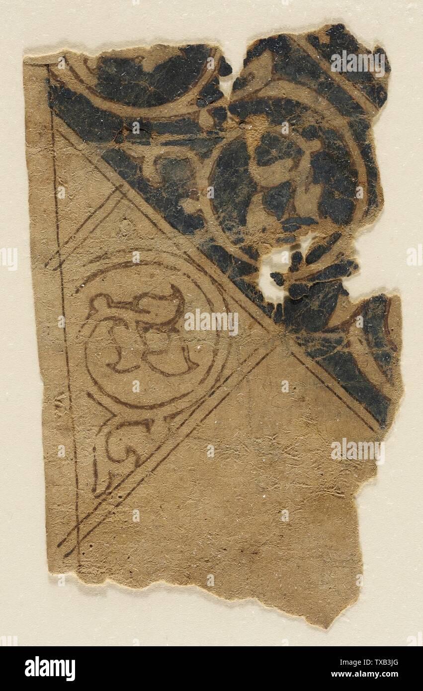 'Peinture; Anglais: Égypte, 1000-1250 Peintures Encre et couleurs sur papier 4 5/8 x 2 3/4 in. (11,74 x 6,98 cm); le mont: 22 x 16 in. (55,88 x 40,64) La Collection d'Art Islamique de Madina, don de Camilla Chandler Frost (M.2002.1.651) L'Art Islamique; entre 1000 et 1250:P571 QS date,+1500-00-00T00:00:00Z/6,P1319,+1000-00-00T00:00:00Z/9,P1326,+1250-00-00T00:00:00Z/9; ' Photo Stock