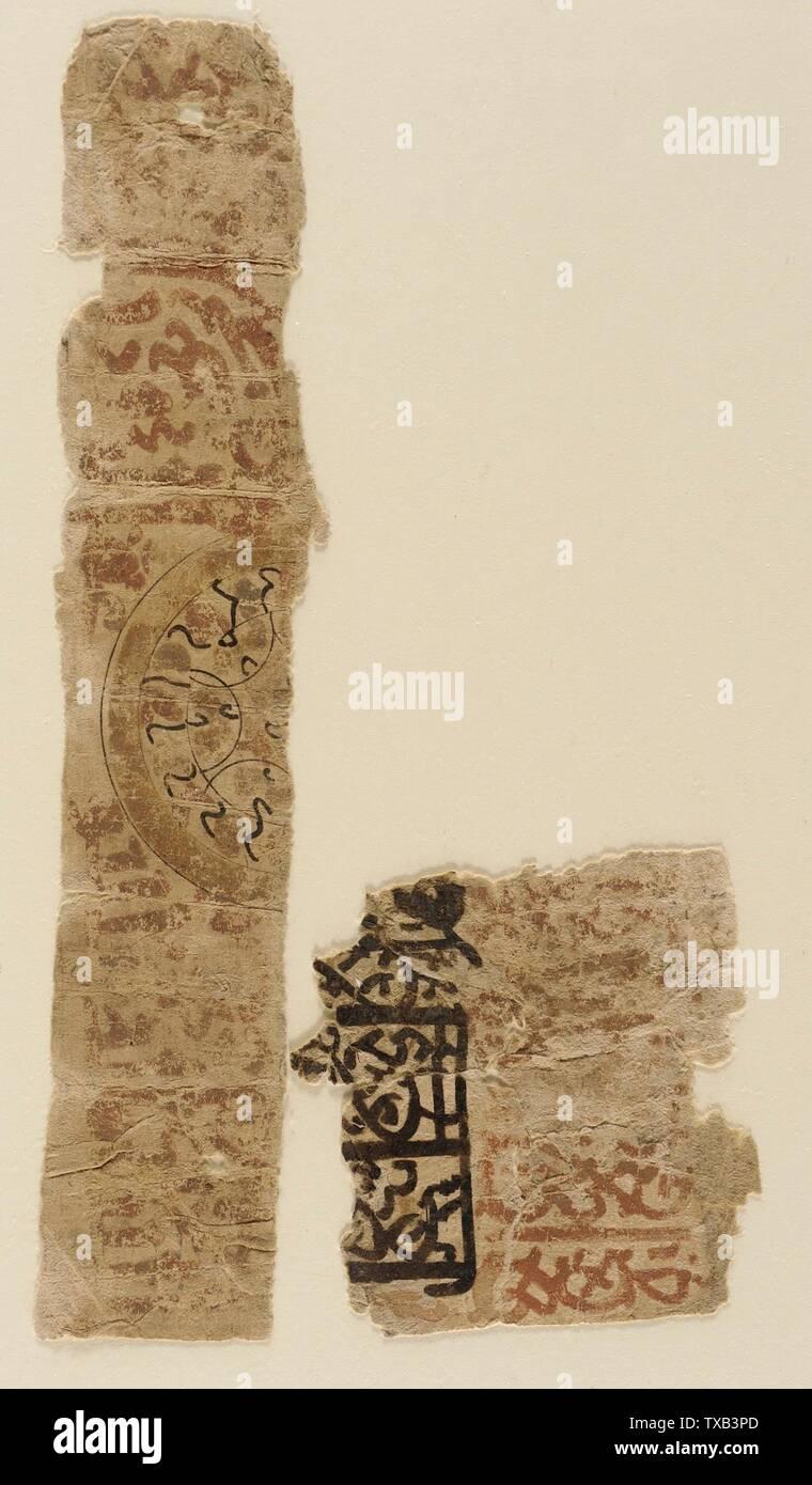 'Peinture; Anglais: Égypte, 1000-1250 Peintures Encre et couleurs sur papier La Madina Collection de l'Art Islamique, don de Camilla Chandler Frost (M.2002.1.653a-b) de l'Art Islamique; entre 1000 et 1250:P571 QS date,+1500-00-00T00:00:00Z/6,P1319,+1000-00-00T00:00:00Z/9,P1326,+1250-00-00T00:00:00Z/9; ' Photo Stock