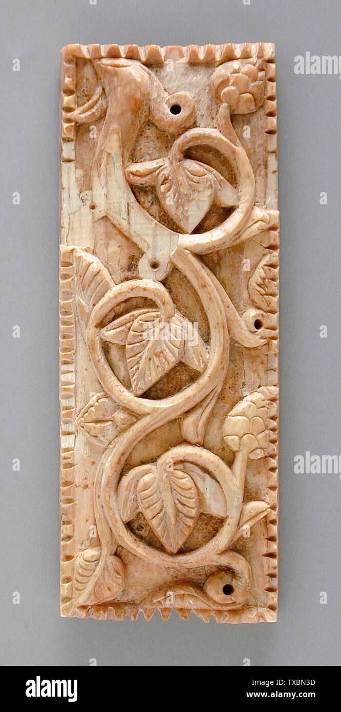 """Plaque """"; Anglais: l'Iran ou l'Egypte, Perse, 5e siècle? Sculpture; l'ivoire plaques Phil Berg Collection (M.71.73.30) L'Art de l'; 5ème siècle?; ' Photo Stock"""