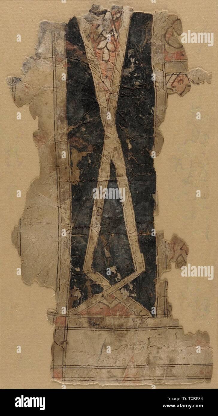 'Carte à jouer; Anglais: Égypte, 13e-14e siècle Encre et couleurs sur papier 8 x 4 1/4 in. (20,32 x 10,79 cm); le mont: 22 x 16 in. (55,88 x 40,64 cm) La Collection d'Art Islamique de Madina, don de Camilla Chandler Frost (M.2002.1.650) L'Art Islamique; tournant du 13/14ème siècle; ' Photo Stock