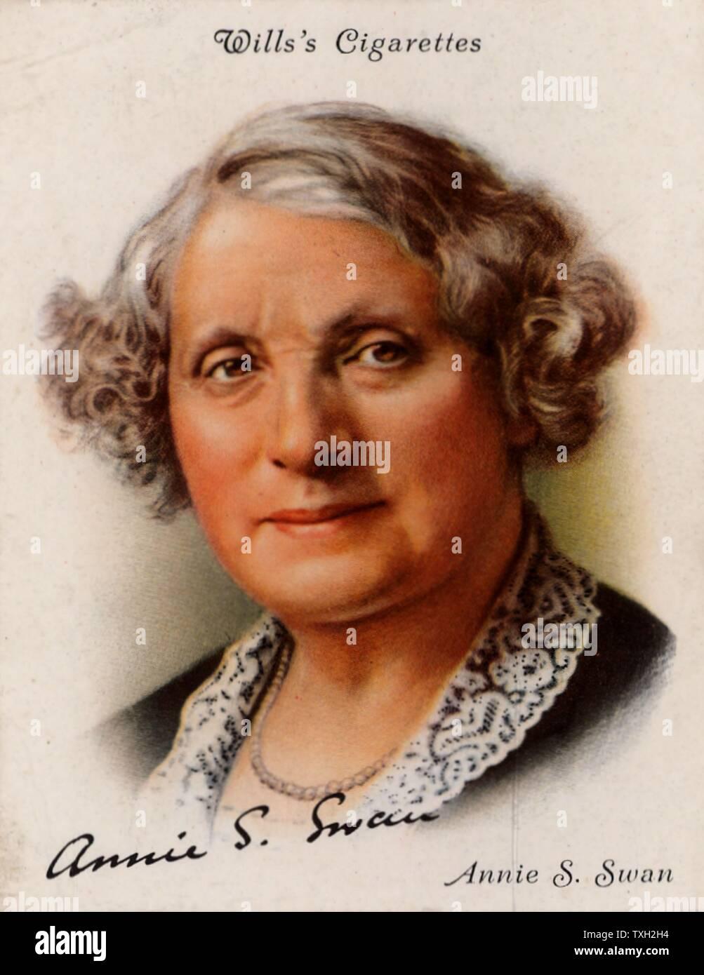 Annie S(hepherd) Swan (1859-1943) écrivain et romancier populaire écossais, né à Edimbourg. Produit jusqu'à 150 livres entre 1880 et 1926, la plupart de qui a paru entre 1880 et 1900. À partir d'une série de cartes de la célèbre 'Auteurs' (Londres, 1937). Banque D'Images