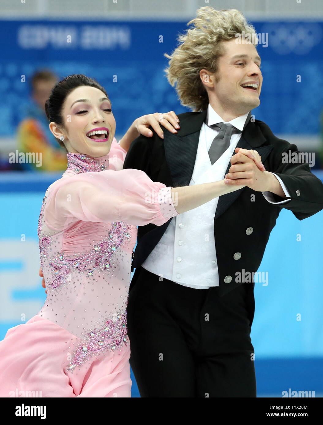 Danseurs de glace Davis et blanc datant