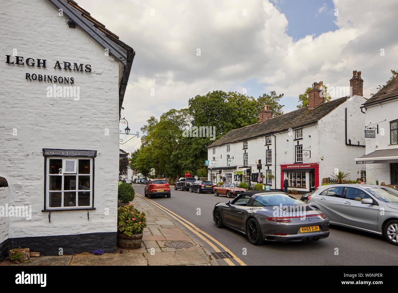 Prestbury est un village et une paroisse civile dans le Cheshire, en Angleterre. Environ 1,5 miles au Nord de Macclesfield Banque D'Images