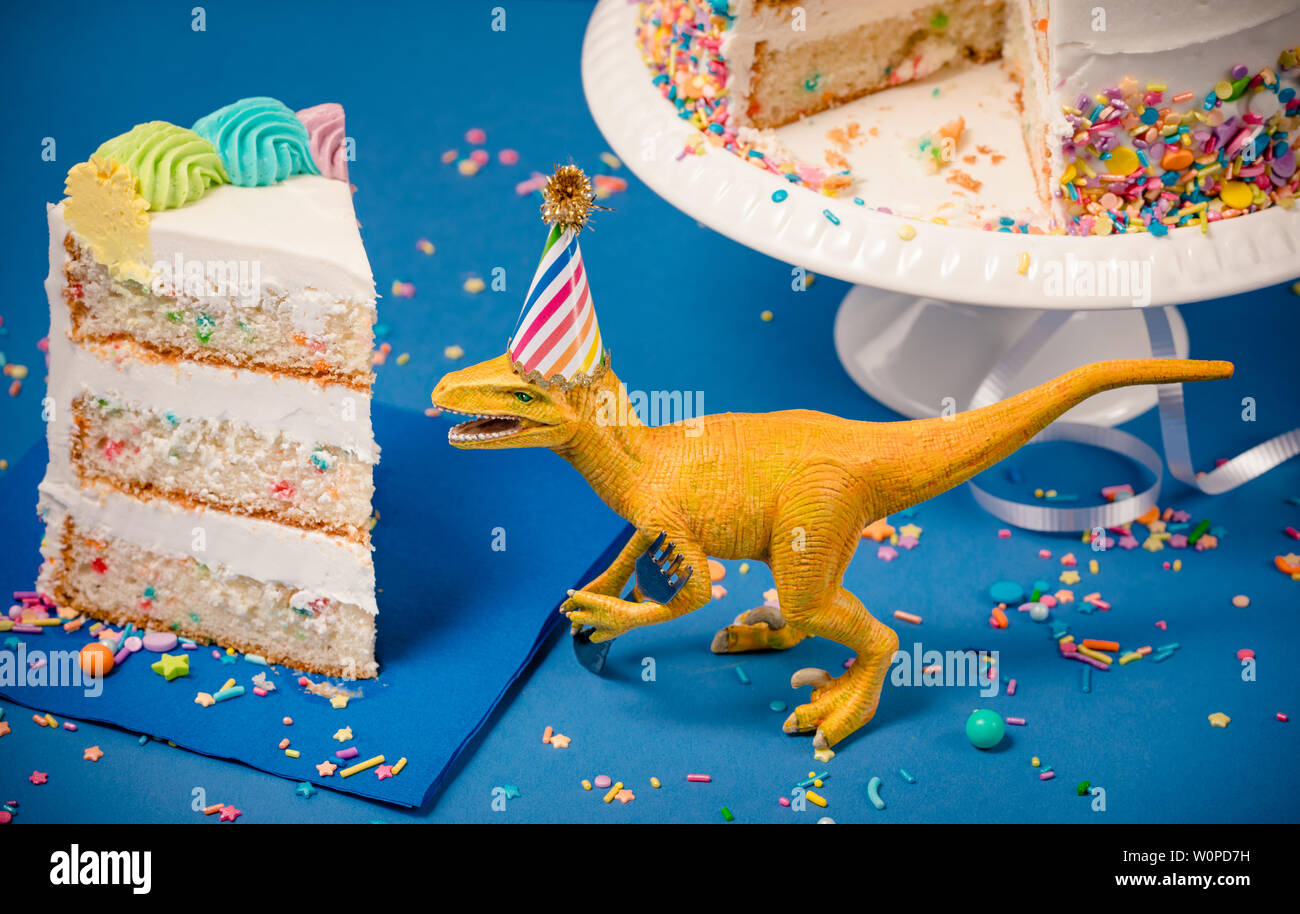 "7.5/"" Dinosaure Anniversaire Comestible Personnalisé Cake Topper"