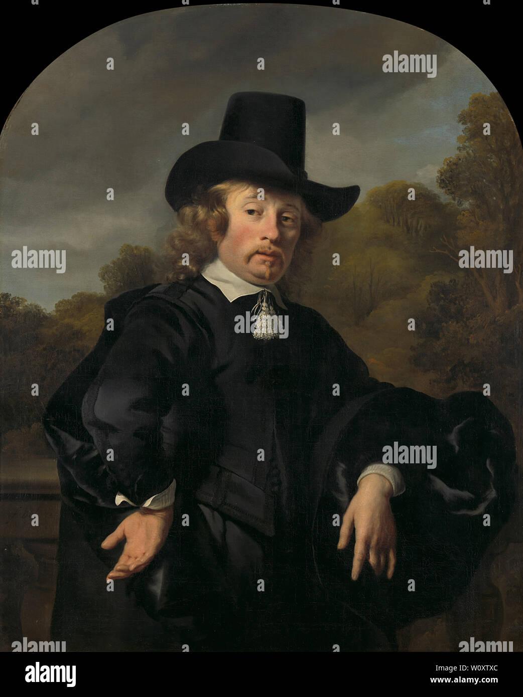 Roelof Meulenaer (1618/19-1691). Amsterdam Messagerie ou Mercantile postmaster sur la route d'Anvers (1650). Bol, Ferdinand Photo Stock