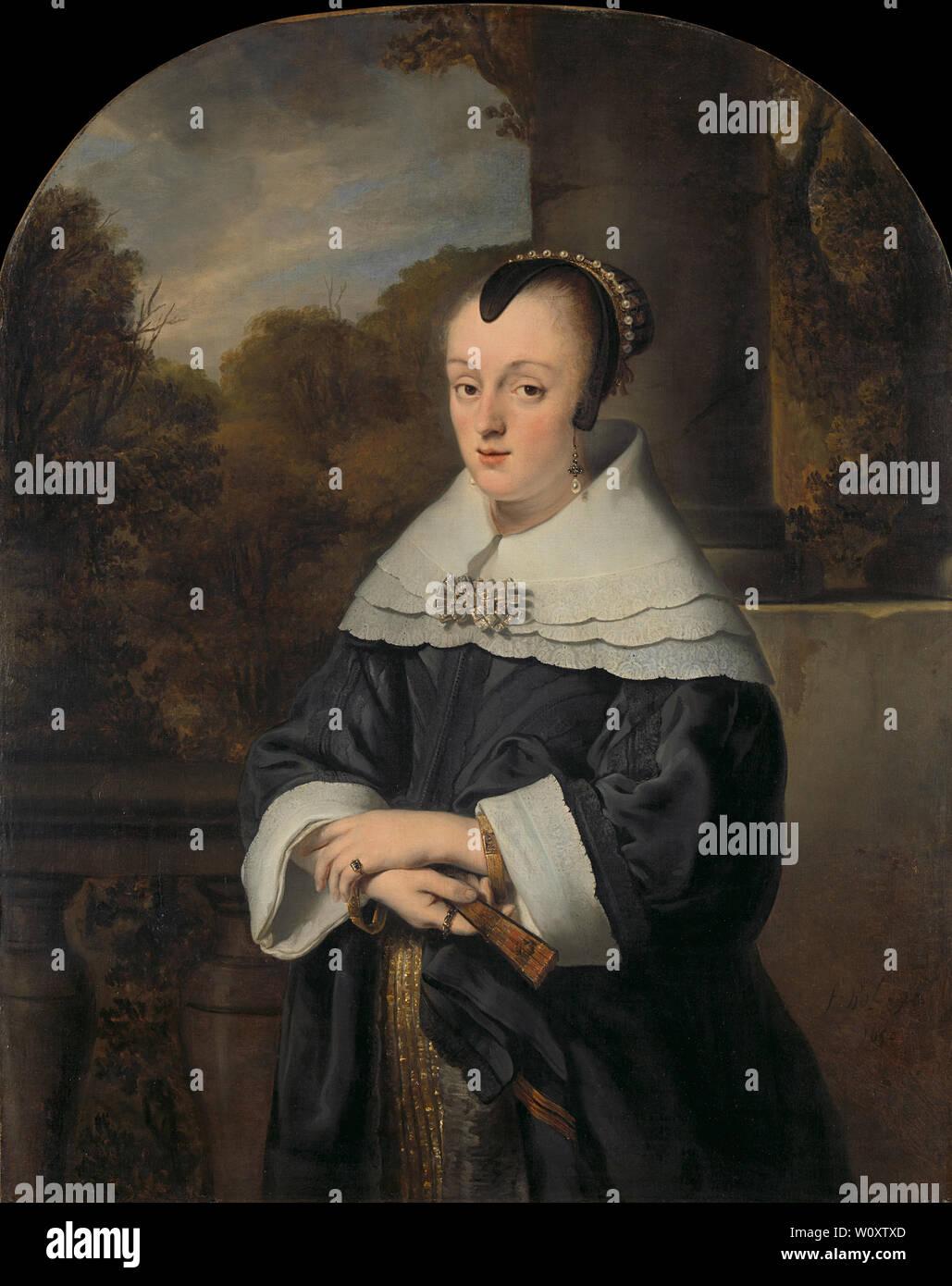 Maria Rey (1630/31-1703). Femme de Roelof Meulenaer (1650). Bol, Ferdinand Photo Stock