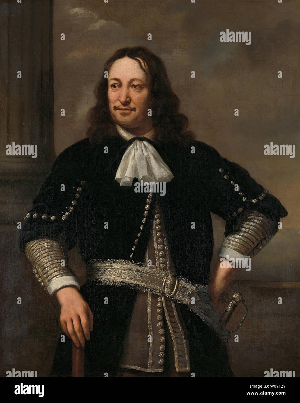 Portrait d'un officier de marine, probablement le Vice-amiral Aert van Nes (1626-1693) (1667). Bol, Ferdinand Photo Stock