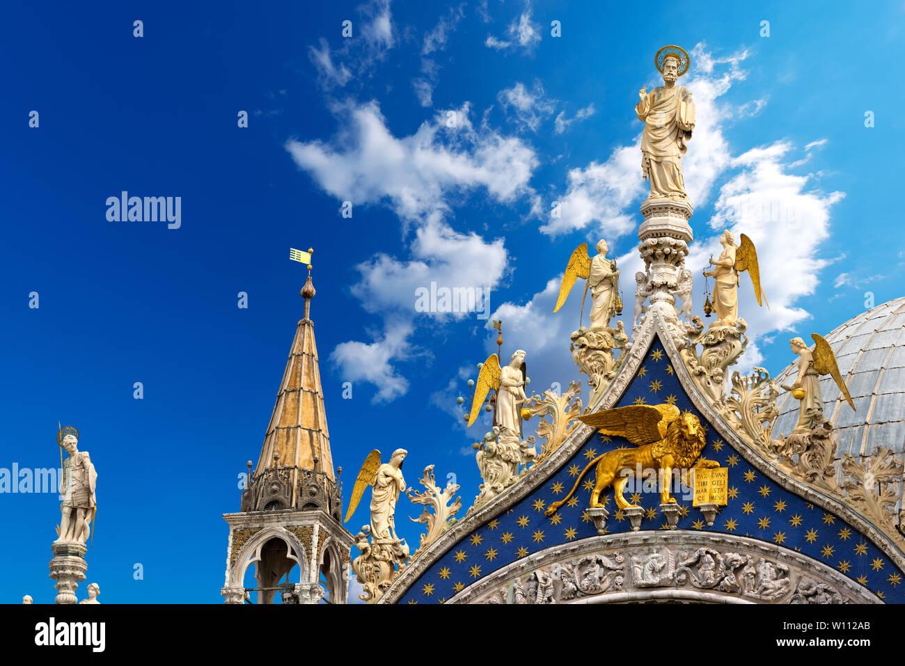 Basilique et cathédrale de San Marco (St. Marc l'Évangéliste), Venise, UNESCO World Heritage site, Vénétie, Italie, Europe Banque D'Images