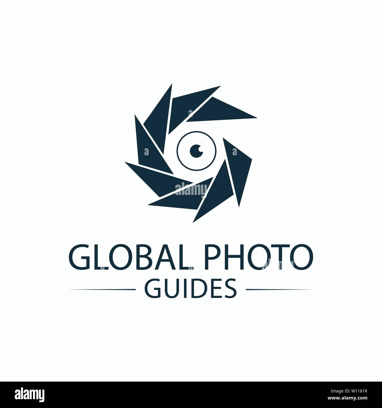 Le logo d'appareil photo Template design Illustration de Vecteur