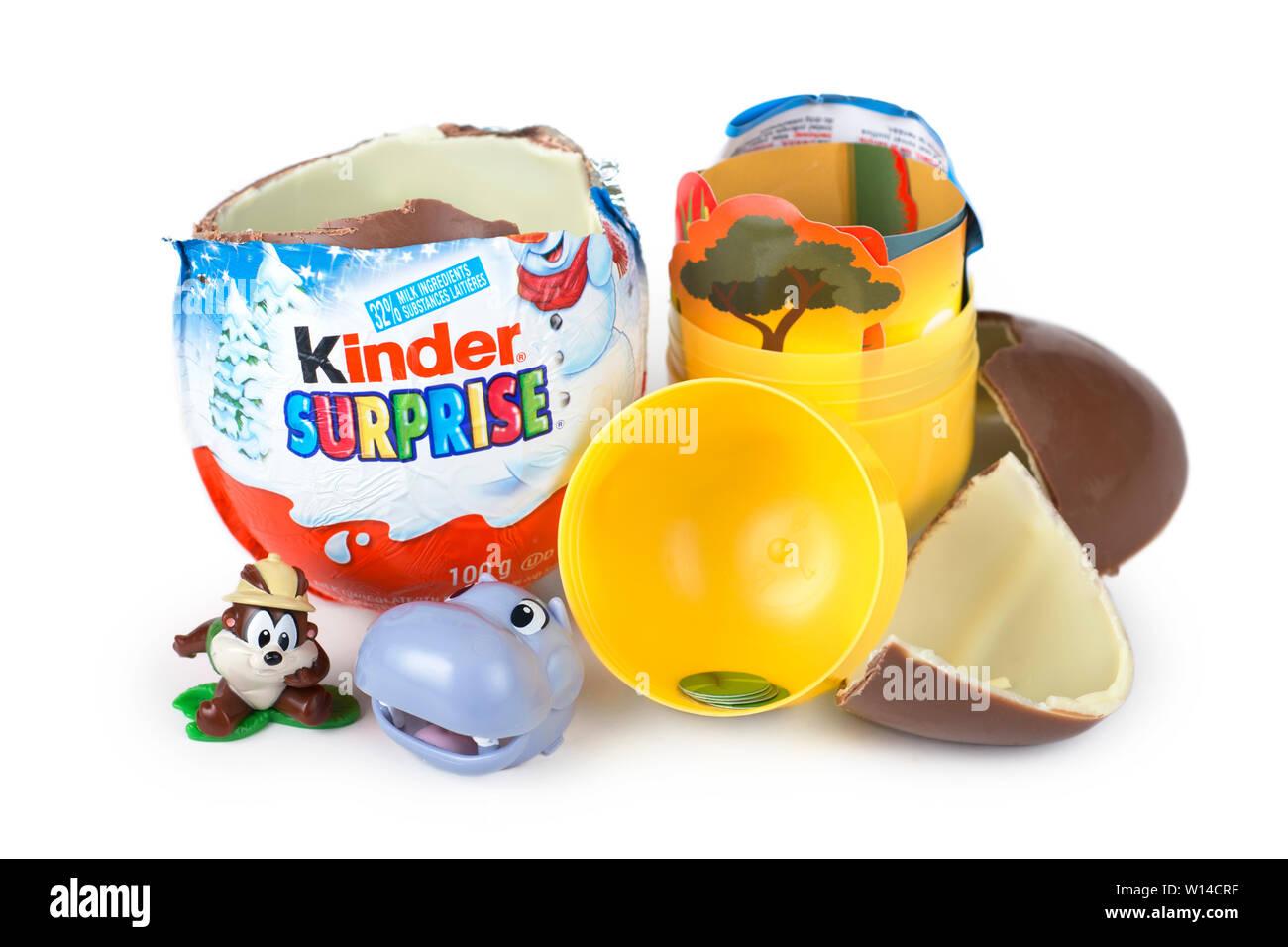 Les jouets Kinder Surprise, Toy Photo Stock