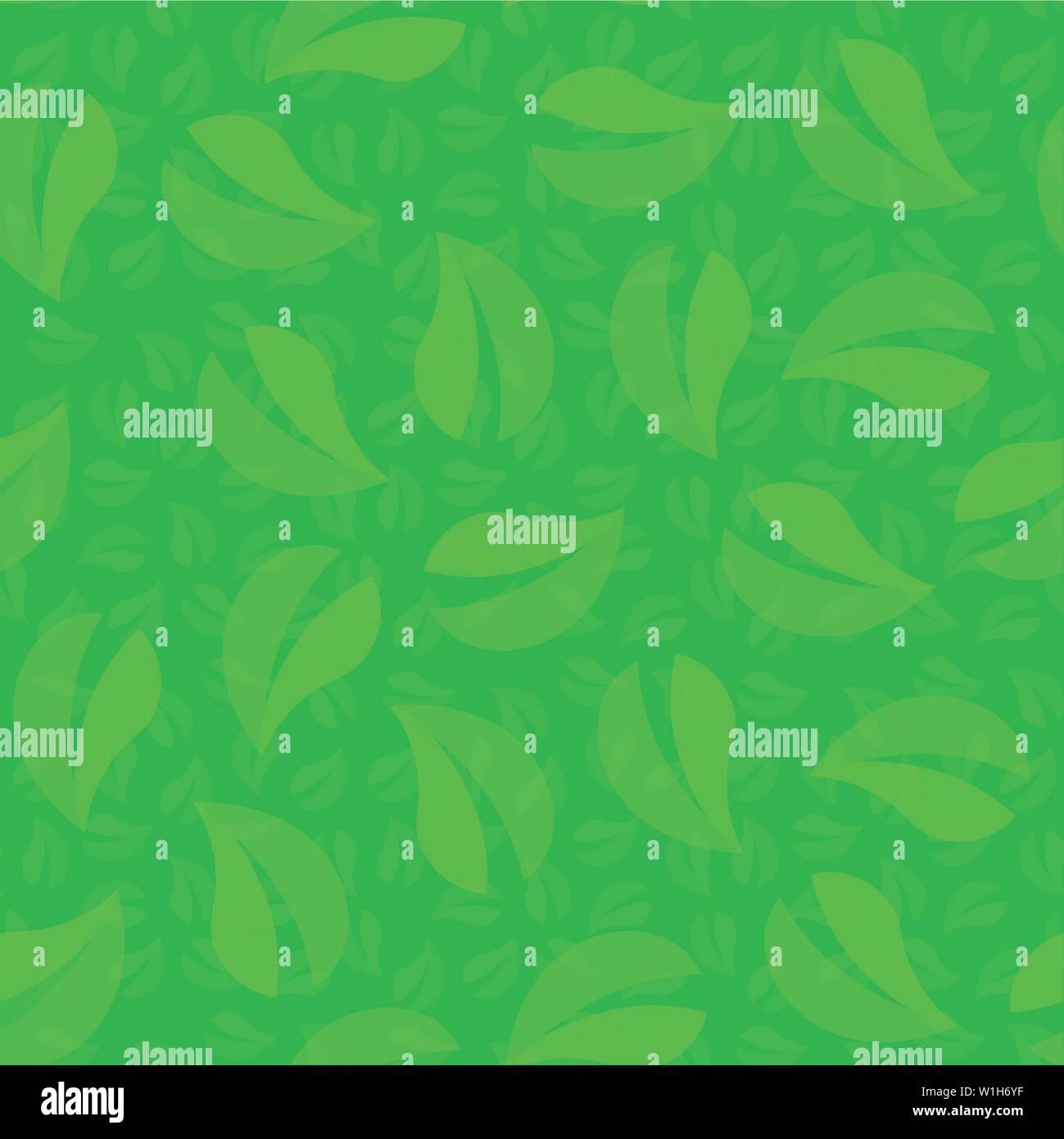 Les feuilles vertes de l'arbre, mis en boucle motif de fond transparent Illustration de Vecteur