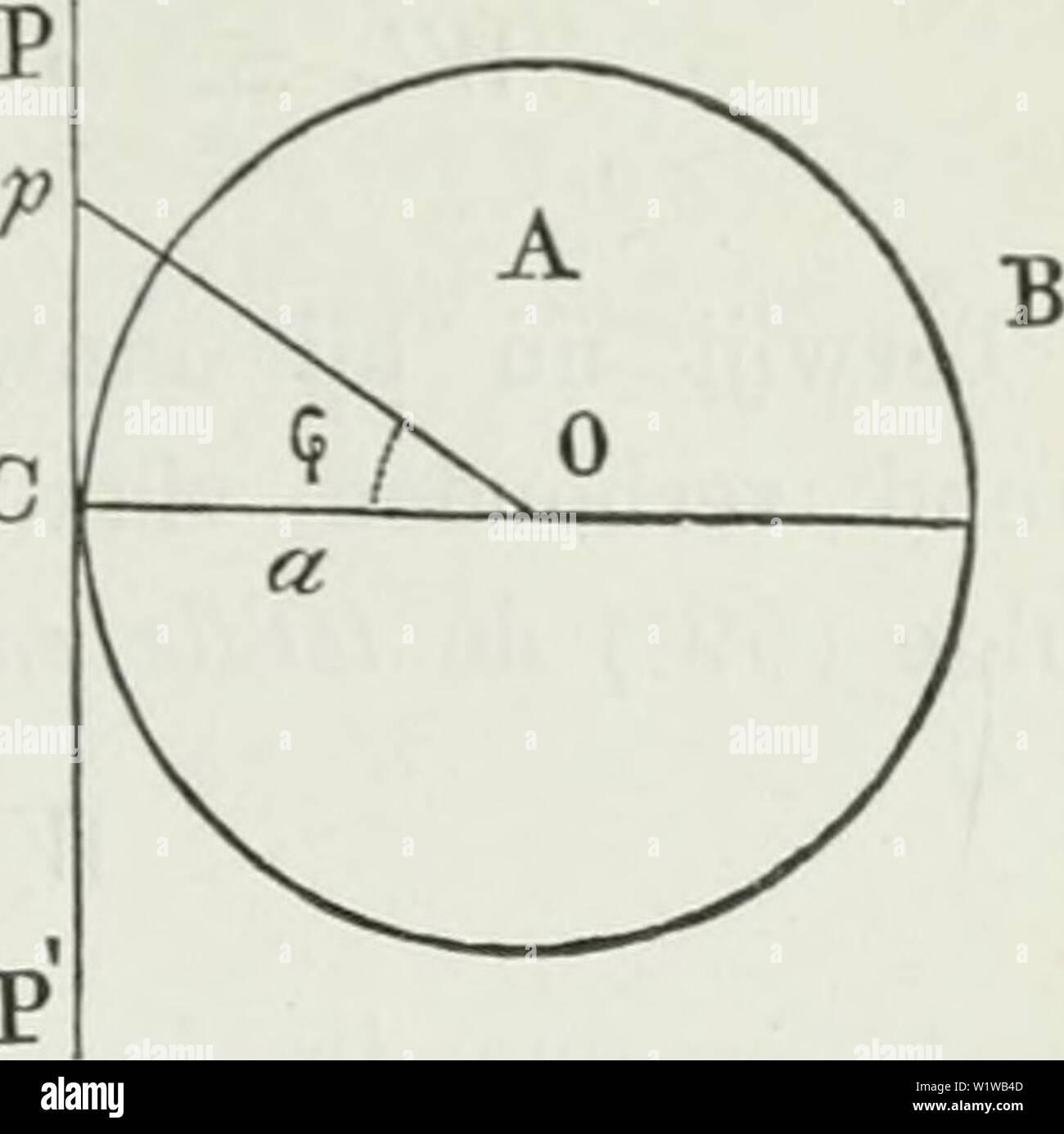 """Image d'archive à partir de la page 658 de Verslagen en mededeelingen. Verslagen en mededeelingen d1d2verslagenenm03akad Année: ( 27 W, zoodat - ro - ~. . . . (59) p Aa de la SLA - =;,, ïri = w,-ip..(59ö) c 2 d'un Nu est de energie, aanvankelijk (zon- der vlak PP') aanwezig in den bol A. die CO - un tot straal heeft, /V=""""U'~' = M_P (60) De aanvankelijke Energie in het habitude rechts van het vlak om den bol J., dus à de ruimte-je? Wordt gegeven door W en daar o ,c ' _ (L i 1 + coscp dr . - Waarin qp = / P U L , 1 -p- r'osij' r -f- un &gt; W',, = , r&gt; FF + q d_l _t[[ 6 ~~ 2 ƒ 2r r2 ' ' 4 J 4 a 2 a) """"8 Photo Stock"""