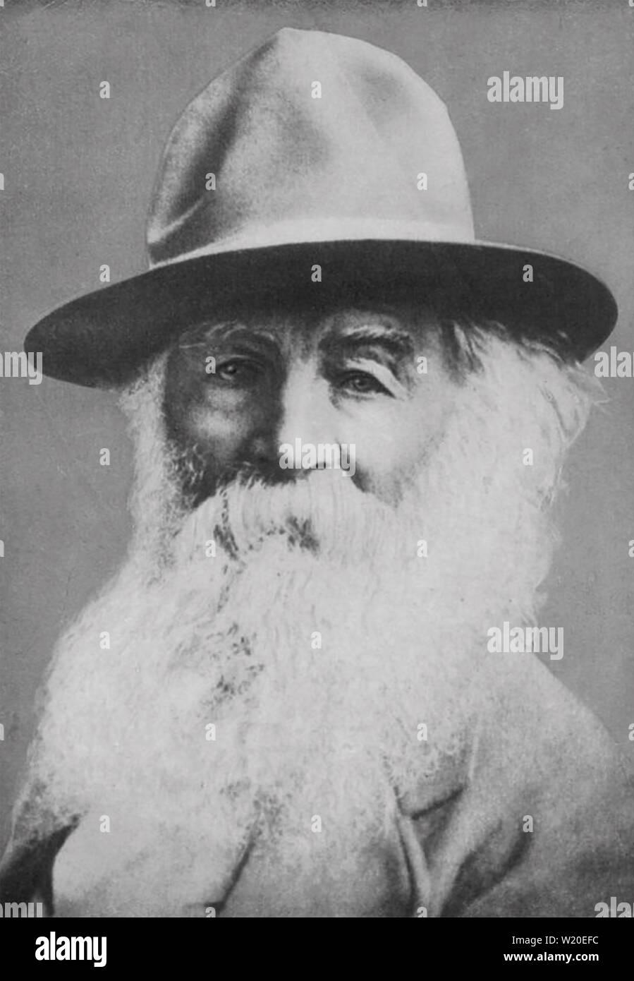 WALT WHITMAN (1819-1892) poète et journaliste américain en 1887 Banque D'Images