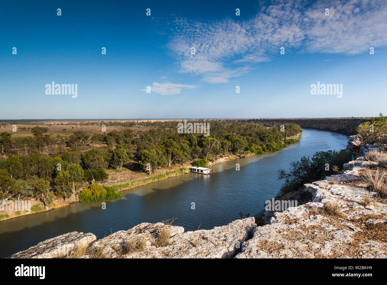L'Australie, l'Australie, Murray River Valley, Swan Reach, Murray River, elevated view Banque D'Images