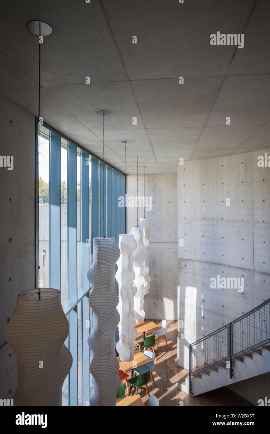 Allemagne, Baden-wurttemberg, Weil am Rhein, Vitra Design Architectural Campus, Pavillon de conférences, Tadao Ando, 1993, de l'intérieur Photo Stock