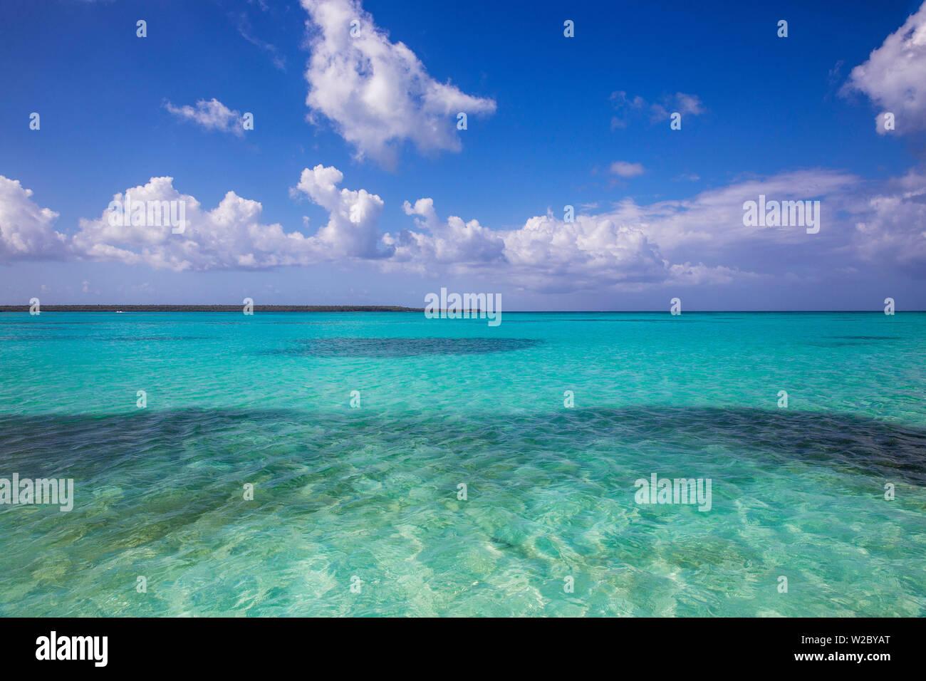 République dominicaine, Punta Cana, Parque Nacional del Este, piscine naturelle , un banc de sable peu profond Banque D'Images