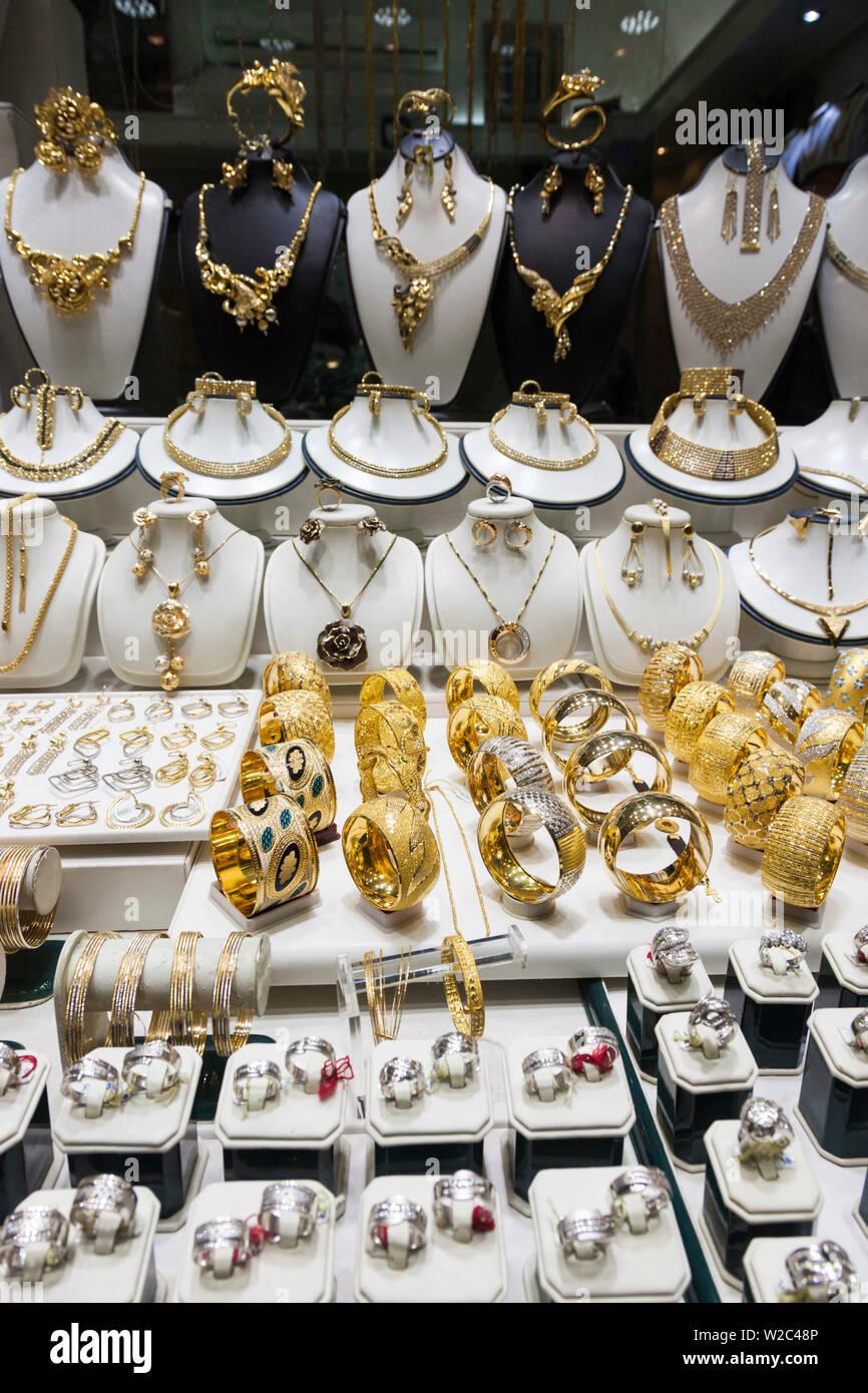 L'Iran, au centre de l'Iran, Ispahan, Bazar-e Honar, marché des bijoux Photo Stock