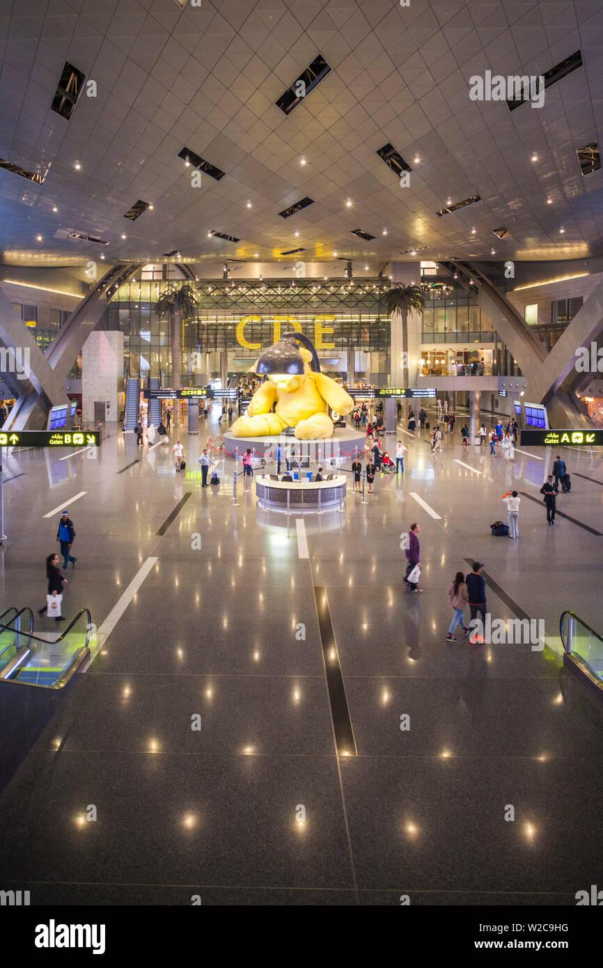Qatar, Doha, Doha-Hamad Aéroport International, ouvert depuis 2014, des boutiques duty-free area Banque D'Images