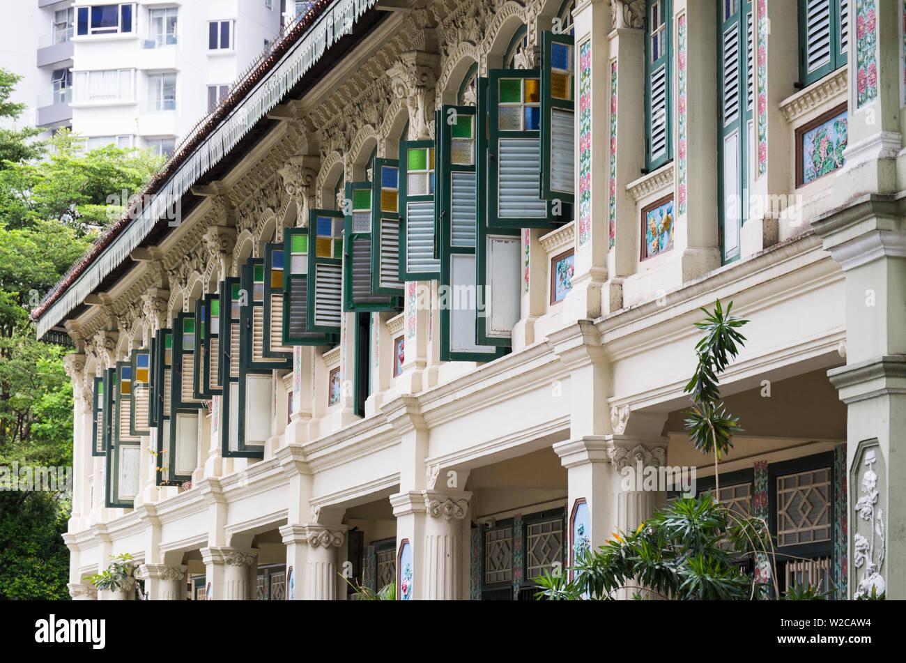 Singapour, l'architecture traditionnelle magasin Banque D'Images
