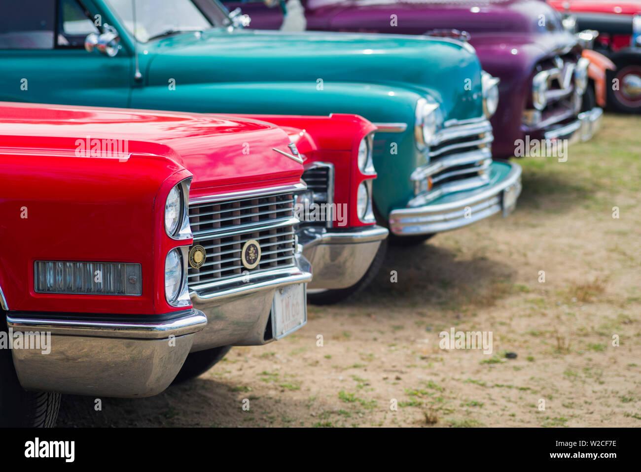 USA, Massachusetts, Cape Ann, Gloucester, Antique car show, voitures anciennes Photo Stock