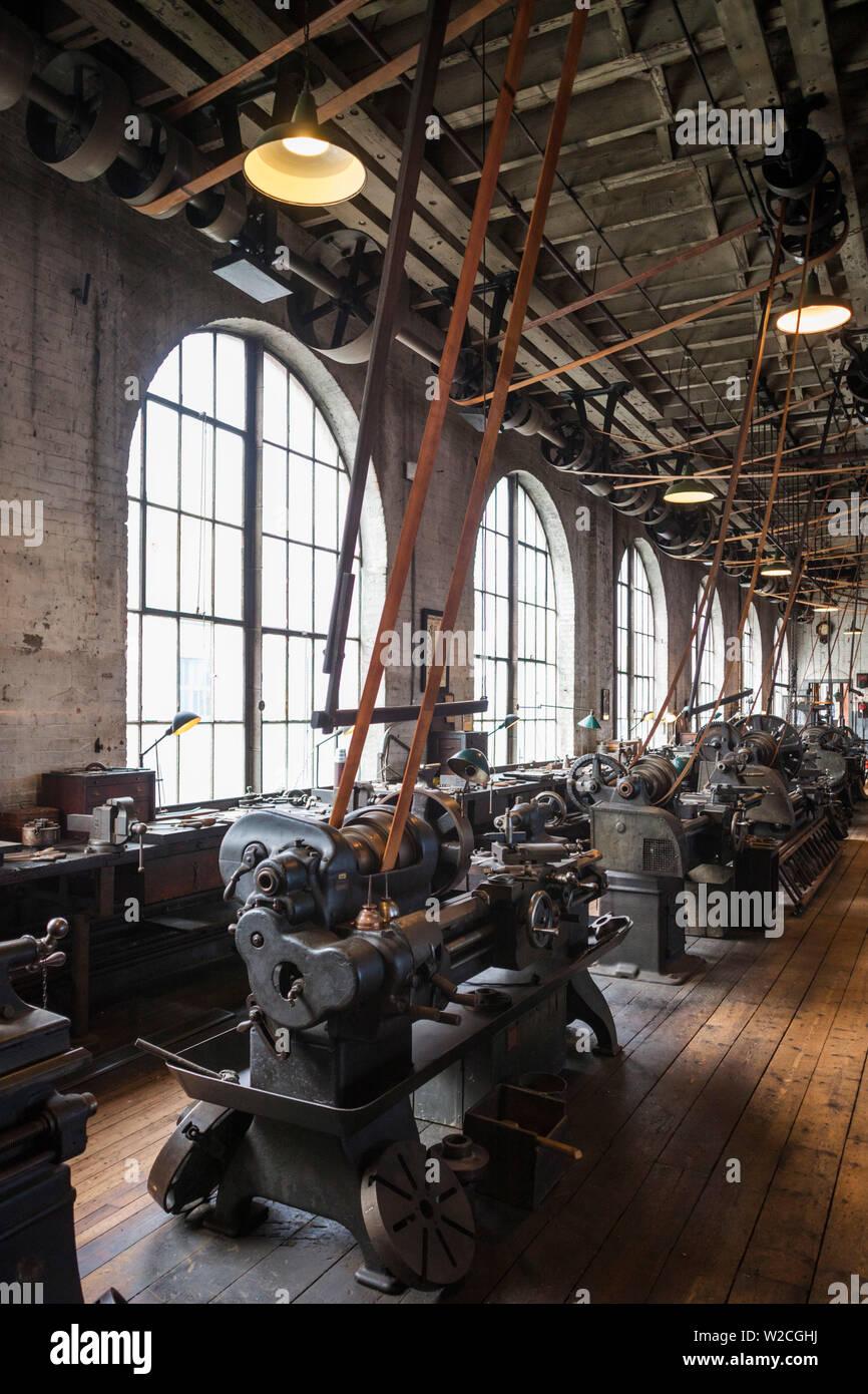 USA, New Jersey, West Orange, Thomas Edison National Historical Park, de l'intérieur, de l'usine Banque D'Images