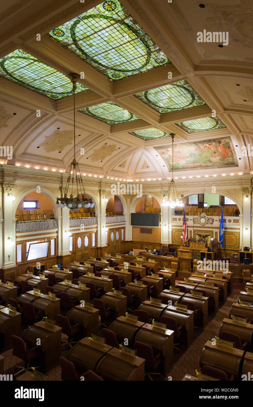 USA, Dakota du Sud, Pierre, South Dakota State Capitol, de la Chambre de la Chambre des Représentants Banque D'Images