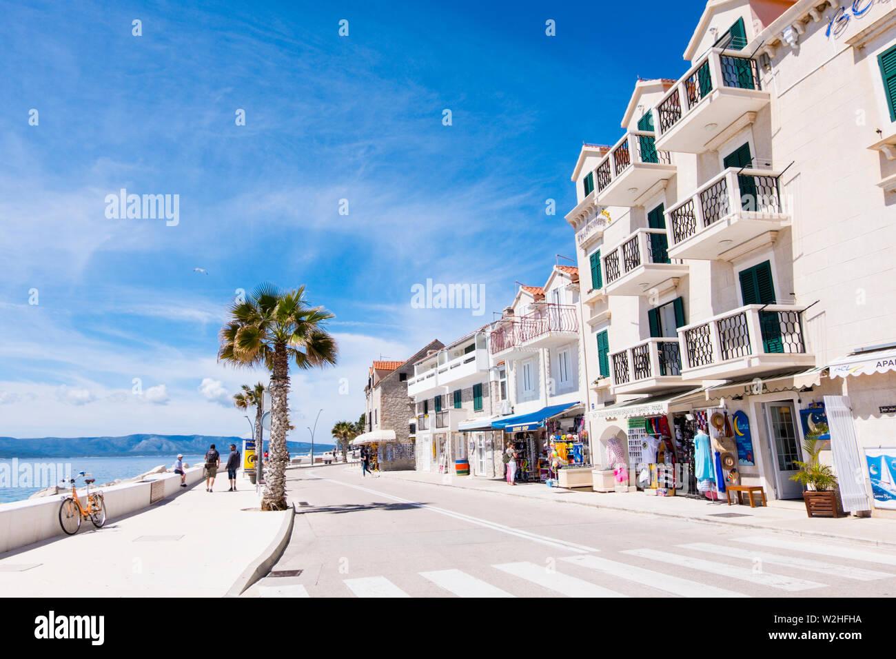 Ulica Vladimira Nazora, station street, Bol, Brac, Dalmatie, Croatie Photo Stock