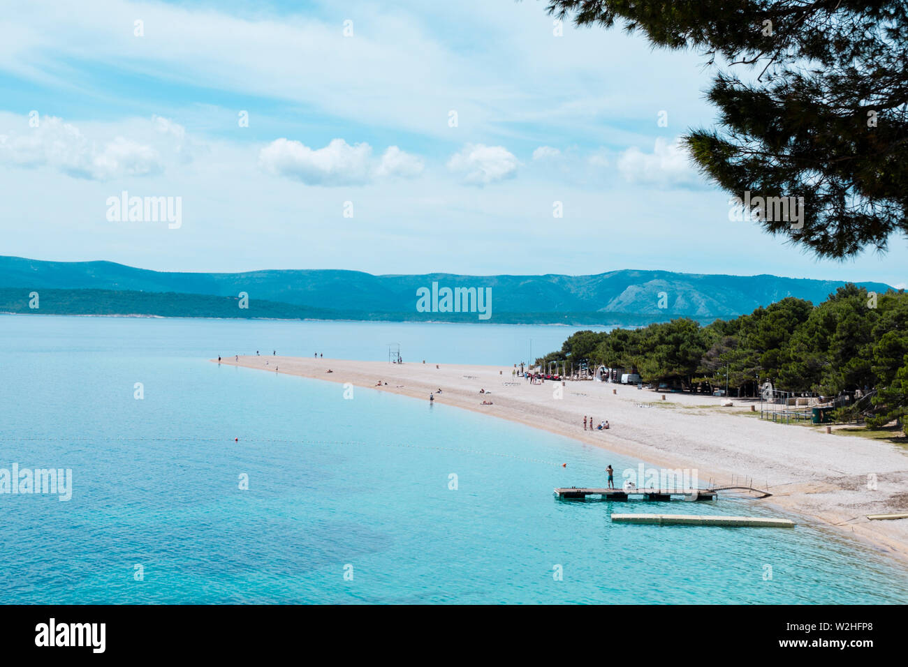 Zlatni rat, Bol, Brac, Dalmatie, Croatie Photo Stock