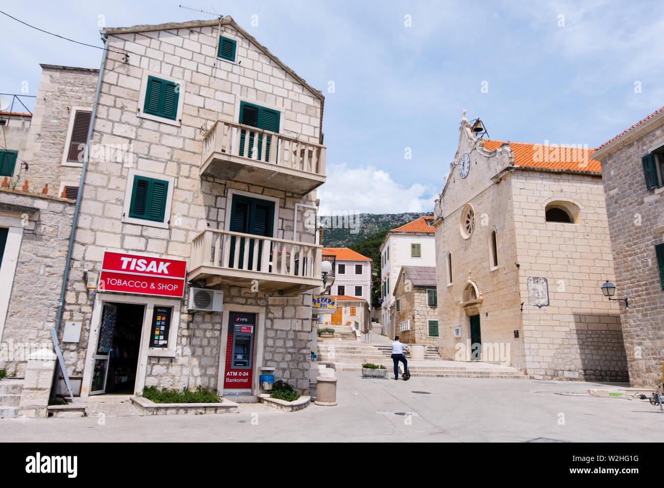 Bol, Brac, Dalmatie, Croatie Photo Stock
